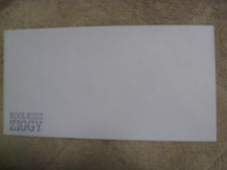 ZIGGY KOOLKIZZ封筒 非売品 1990年製