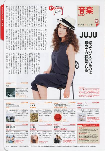 ◇月刊ザテレビジョン 2011.8号 切抜 JUJU