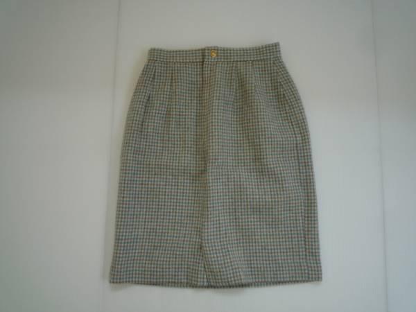 【良品!】 ◆ アンシェピ / ANNCHEPI ◆ 台形スカート 膝丈 60-88 総柄_画像1