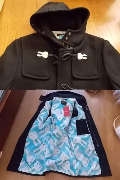 新品 cune キューン うさぎ ダッフル コート 3 黒