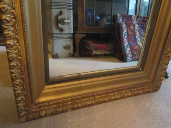 レア!USAアメリカアンティーク 40's~大型壁掛けミラー Antique鏡/店舗什器カリフォルニアインテリアフランス蚤の市ヴィンテージ _画像3