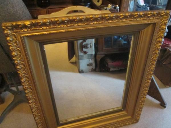 レア!USAアメリカアンティーク 40's~大型壁掛けミラー Antique鏡/店舗什器カリフォルニアインテリアフランス蚤の市ヴィンテージ _画像2