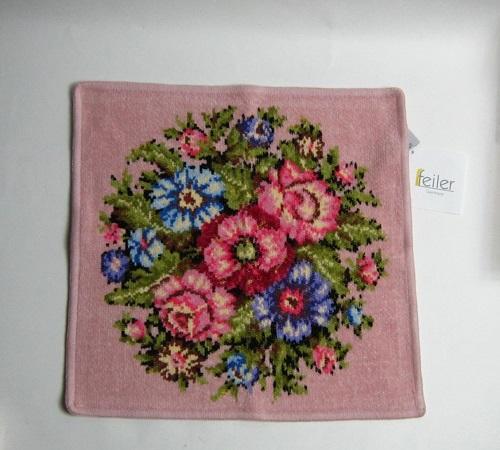 フェイラー/ピンクの花柄ハンカチ/新品/ドイツ購入/プレゼントに/値下げ