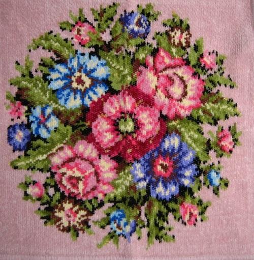 フェイラー/ピンクの花柄ハンカチ/新品/ドイツ購入/プレゼントに/値下げ_画像2