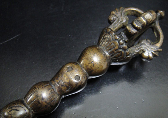 ◆チベット密教法具カルタリ(曲刀)アンティークカラー1