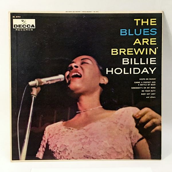 ◇THE BLUES ARE BREWIN/BILLIE HOLIDAY◇DECCA 米深溝 フラット_画像1