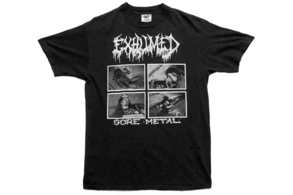 90's 初期 EXHUMED GORE METAL Tシャツ NAPLAM DEATH CARCASS Cannibal Corpse