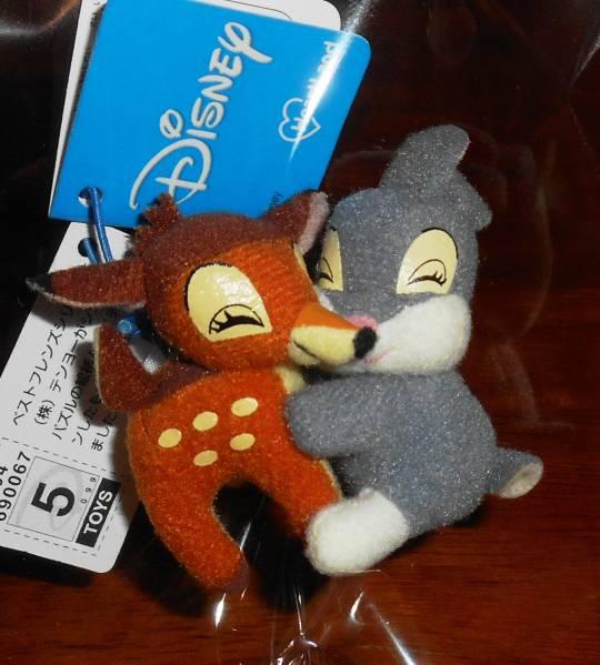★ディズニー バンビ & とんすけ ホルダーマスコット 未使用 ディズニーグッズの画像