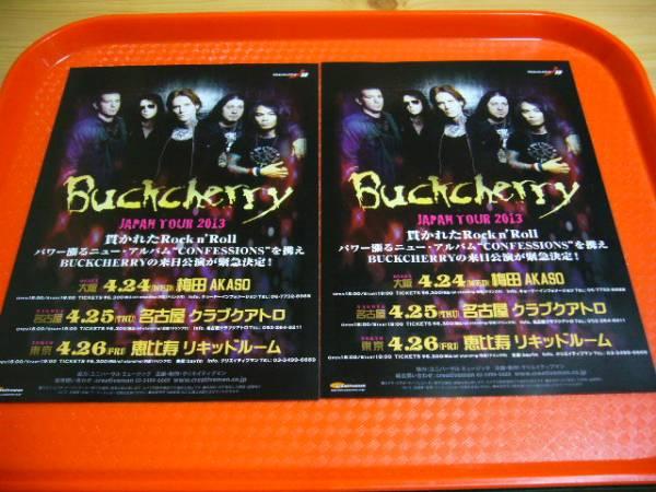 バックチェリー BUCKCHERRY 2013年来日公演チラシ2枚☆即決