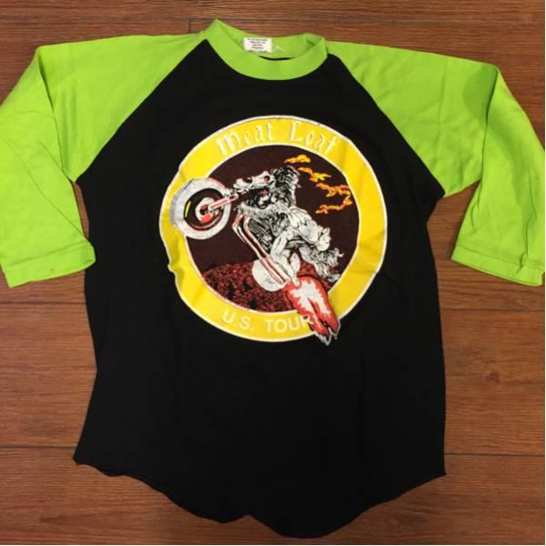 meatlorf ミートローフ バンドTシャツ ラグラン 黒黄緑 Mパキ綿