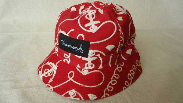Diamond Supply Co. Rope Reversible Bucket Hat 赤 半額 50%off ダイアモンド スケートボード ハット 帽子 レターパックライト_画像1