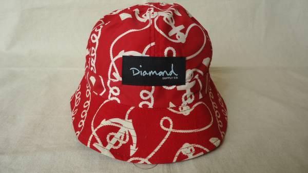 Diamond Supply Co. Rope Reversible Bucket Hat 赤 半額 50%off ダイアモンド スケートボード ハット 帽子 レターパックライト_画像3