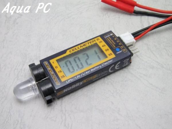 AquaPC★Cellmeter-6 Lipo/Life/Li-ion Cell Checker & Alarm★