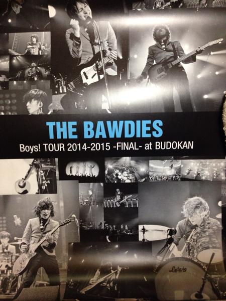 THE BAWDIES 会場限定予約特典ポスター新品!Boys! TOUR BUDOKAN