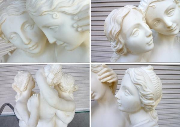 イタリア製:大理石調 石像◆美の三女神 W580xD300xH1010mm 65kg_画像3