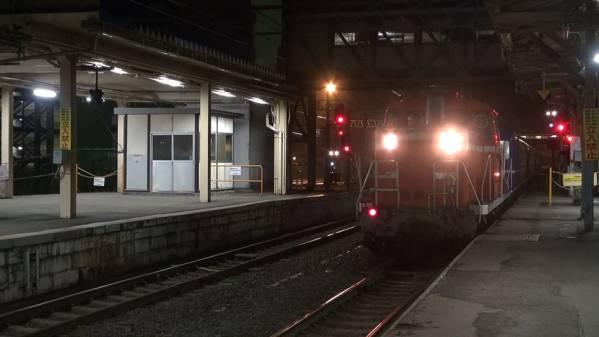 急行「はまなす」 車窓 青森→札幌 (字幕無/有BD-R DL1枚)_青森駅に入線