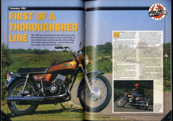 【b6218】95.4 Classic & Motorcycle MECHANICS/ヤマハYR5,..._画像3