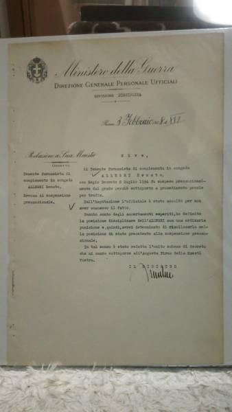 ファシストイタリア頭領ムッソリーニ自筆サイン入文書ーヒトラー_画像1