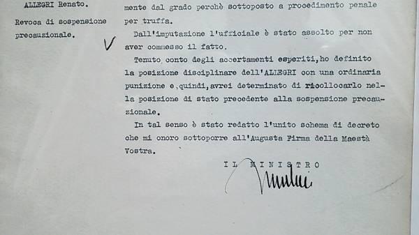 ファシストイタリア頭領ムッソリーニ自筆サイン入文書ーヒトラー_画像3