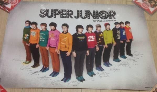 ★SUPER JUNIOR SPAO ポスター★韓国スーパージュニアー