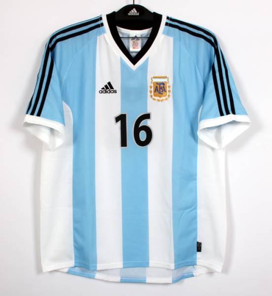 01-02アルゼンチン(H)#16アイマル AIMAR 半袖 02W杯予選仕様 L