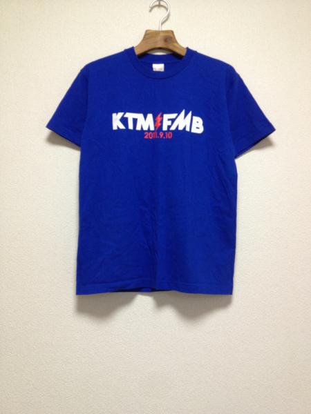[即決古着]KTM VS FMB/ケツメイシVSファンキーモンキーベイビーズ/ファンモン/みちのく力くらべ/2011.9.10/Tシャツ/半袖/青/ブルー/S