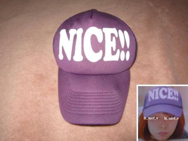 超レア! aiko着! NICE!! メッシュキャップ 紫/白 同型・同色 帽子