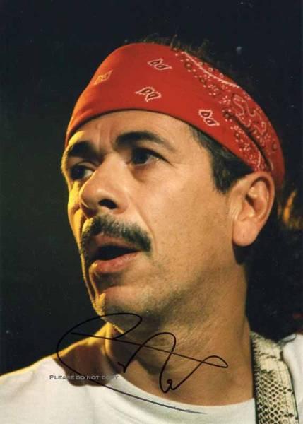 Carlos Santana カルロス・サンタナ サイン フォト