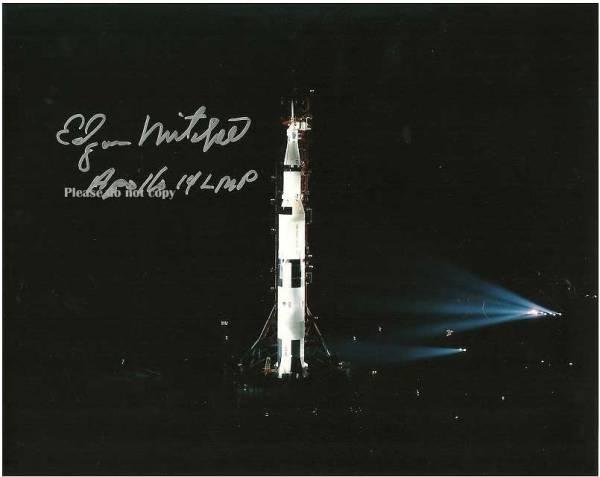 1971年1月31日/アポロ14号 エドガー・ミッチェル サイン フォト