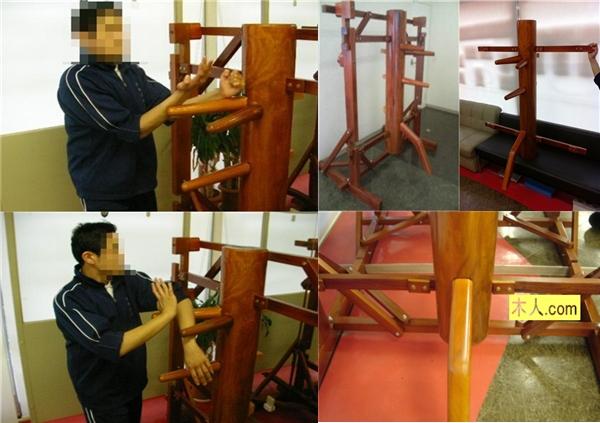 ▼詠春拳で使用! 連架式自立型木人椿Ⅰ型 スタンダード△_いろんな角度から。