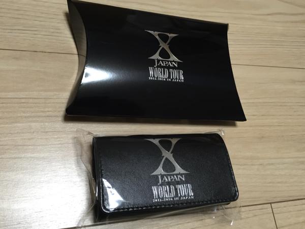 新品 X JAPAN 本革キーケース グッズ YOSHIKI Tシャツ パーカー ライブグッズの画像