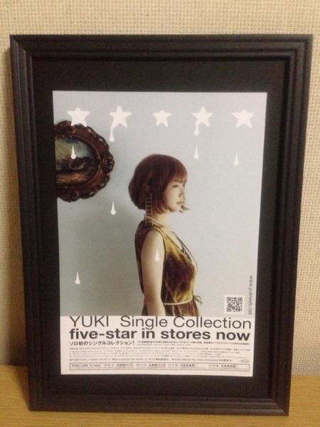 『YUKI five-star』 JUDY AND MARY 額装品 A4フレーム付