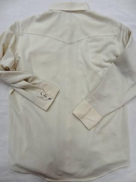 ビンテージLEEリー 70S白色ポリ素材ウエスタンシャツレアUSA製_画像3