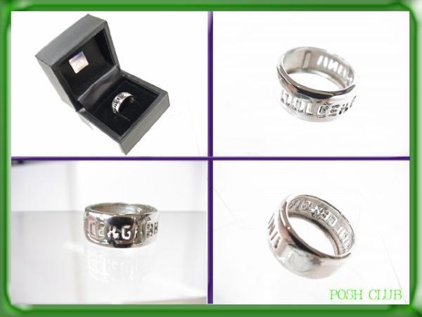 DOLCE&GABBANA* Logo вытащенный * серебряное кольцо *16 номер * кольцо