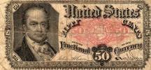 アメリカ 1875年 50セント 小額紙幣