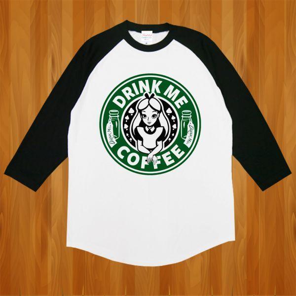 新品 STAR BUCKS スターバックス スタバ アリス Tシャツ2【L】_画像1