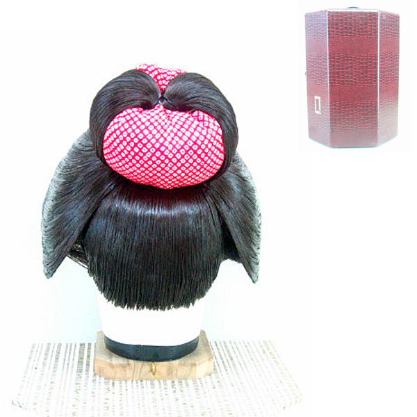 Y73-10日本髪かつら割れしのぶ 頭回り目安 52~58 調整可_画像3