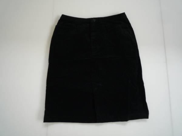 【良品!!】●ユニクロ/UNIQLO● 台形スカート 黒 膝丈 66