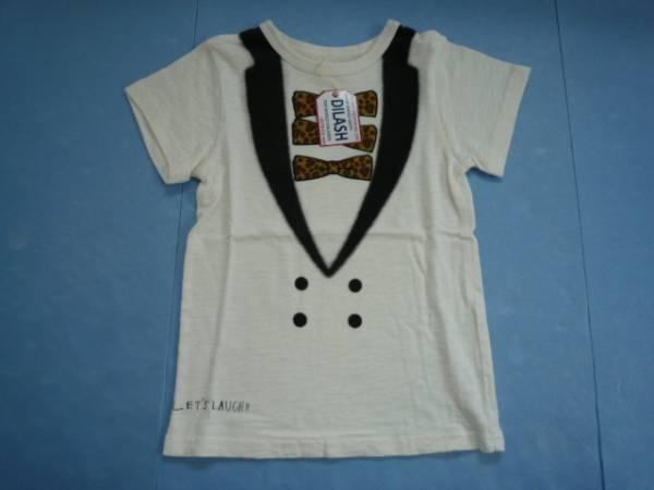 【新品・30%OFF】 ■DLASH■ 半袖Tシャツ 130 生成り色 イラスト