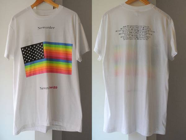 80s ビンテージ new order 89 ツアーTシャツ size.BIG