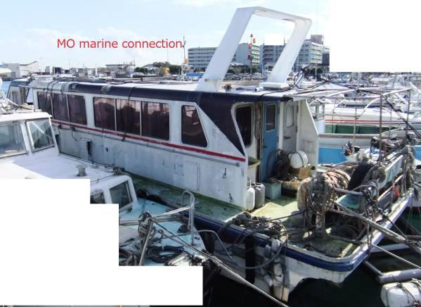 「19トン型 小型船舶 元定員47名 船体のみ FRP」の画像1