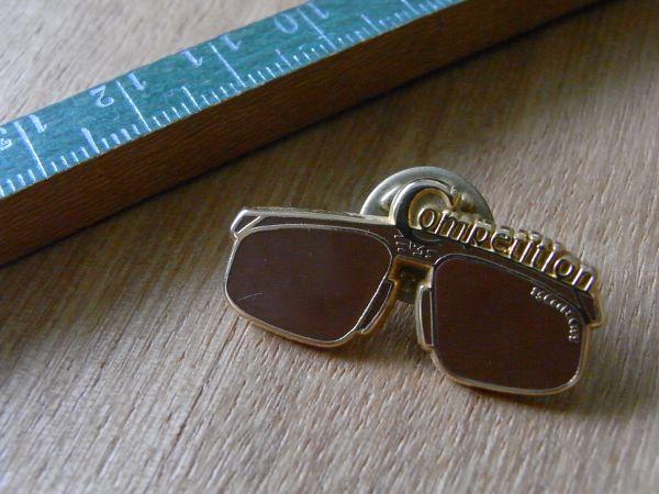 古いピンバッジ:competition サングラス 眼鏡 その他 ピンズ #K_画像3