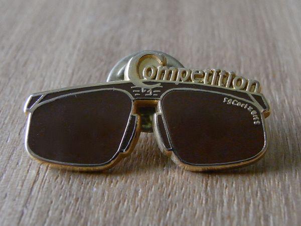 古いピンバッジ:competition サングラス 眼鏡 その他 ピンズ #K_画像1