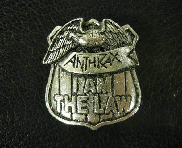 ANTHRAX 80'S VINTAGE デッドストック ヴィンテージ ピンバッジ ジャッジドレッド POWELL SANTACRUZ