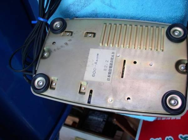 昭和レトロ NTT■ダイヤル式電話器(ベージュ) 600-A2_画像3