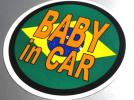 BC* Brazil national flag BABY in CAR sticker * baby .... car * South America KIDS baby original water-proof seal SA(2