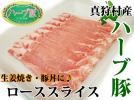 D◆北海道産ハーブ豚ロース◆生姜焼き用♪回鍋肉・ゆで豚に♪