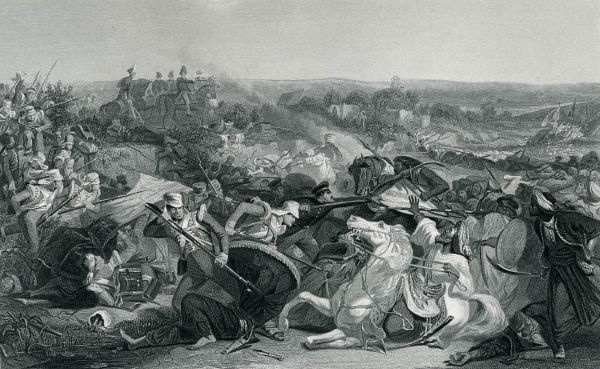 1875年 鋼版画 British Art~The Battle of Meeanee_画像2