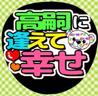 手作うちわ☆Kis-My-Ft2キスマイ★km266二階堂高嗣逢えて幸せ