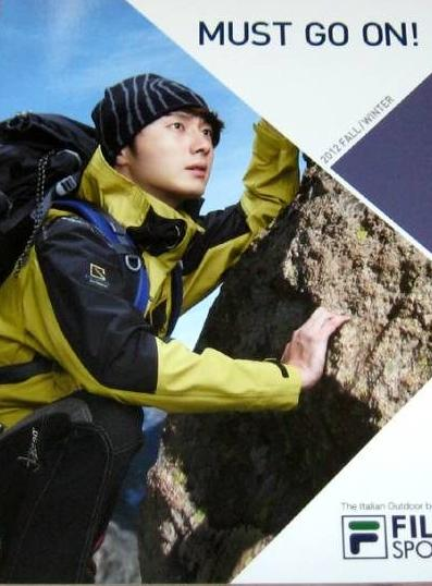 チョン・イル 韓国FILA SPORT 2012年秋冬のカタログ
